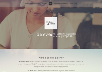 Be Here & Serve Website