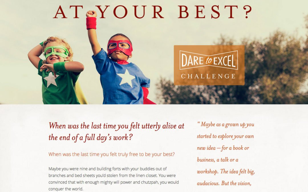 Dare to Excel webpage