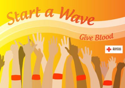 "American Red Cross ""Start a Wave"" campaign"