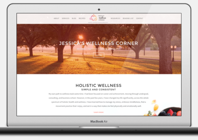 Jessica's Wellness Corner Branding and Website Design