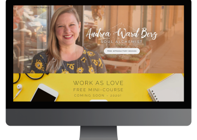 Andrea Ward Berg Website Design