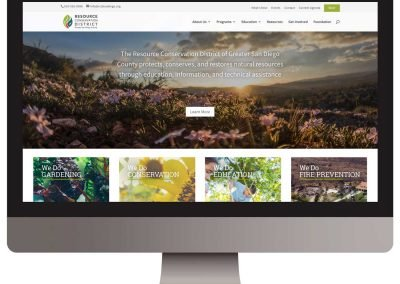Resource Conservation District of San Diego Website Design