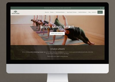 Vista Yoga Website Redesign